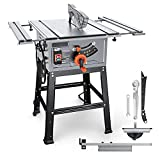 Table Saw, 15A 10-Inch, 4800RPM, 25.3''x 28.3'' Extension Table saw,Cutting...