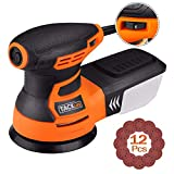 TACKLIFE Orbital Sander, 3.0A 5-Inch Random Orbit Sander with 12Pcs Sandpapers,...