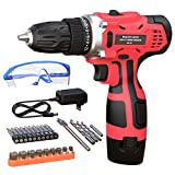 GardenJoy Electric Power Drill Cordless: 12V Impact Drill Driver Set with 2...
