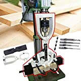 Woodworking Bench Mortiser Square Hole Chisel Drilling Machine Location Tool...