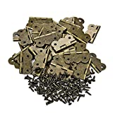 PGMJ 40 Pieces 1 inch Hinges Antique Small Butterfly Hinges Bronze Engraving...