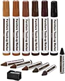 Furniture Repair Kit Wood Markers - Set of 13 - Markers and Wax Sticks with...