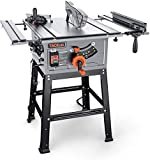 Table Saw, 10-Inch 15-Amp Table Saw, Cutting Speed up to 4800RPM, Aluminum...