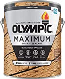 Olympic Stain 56505-1 Maximum Wood Stain and Sealer, 1 Gallon, Transparent...