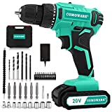 COMOWARE 20V Cordless Drill, Electric Power Drill Set with 1 Batteries &...