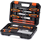 REXBETI 10pc Premium Wood Chisel Set, 6pcs Wood Chisel with 1 Honing Guide, 1...
