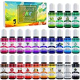 Alcohol Ink Set - 24 Vibrant Colors Alcohol-based Ink for Resin Petri Dish...